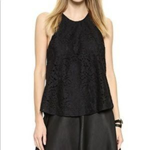 New with Tags JOIE Cualli Black Lace Halter Top